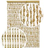 Tenda Moschiera 120X240 cm mod. Mais con filamenti in Mais Naturale
