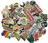 Etitulaire Autocollant Voiture,Lot de 50 Graffiti Autocollant en Vinyle Stickers Autocollant pour Voiture,Moto,Mac,Enfant,Ordinateur Portable,Vélo,Valise,Auto,Skate,Skateboard,Gquitaire, Casque Moto