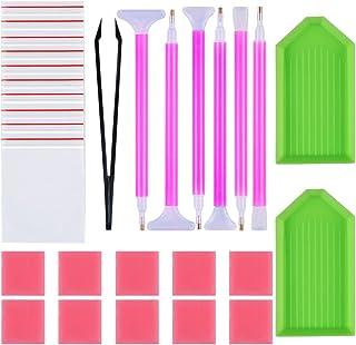 URlighting Diamond Painting Tools Kit(29 Pcs) DIY 5D Diamond Painting Accessories Cross Stitch Tool Set Including Diamond ...