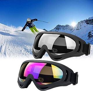 JTENG Skibril Veiligheidsbril Motocross goggle sportbril sneeuwbril wintersport bril winddicht stofbescherming vliegeniers...
