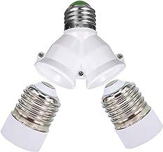 2 in 1 E27 socket splitter adapter, 2 stuks E27 naar E14 socket converter, E27 naar E27 socket converter, E27 verdeler 2, ...