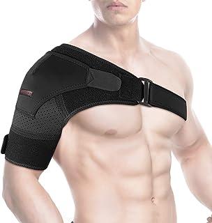 شانه بند توسط SYOSIN - پشتیبان روتاتور کاف برای پیشگیری از آسیب ، مفاصل جابجایی AC ، پارگی لابروم ، تاندونیت و شکستگی - آستین فشرده سازی شانه با پد فشار برای آقایان و زنان (M)
