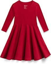 Mightly Girls' 3/4 Sleeve Skater Dress   Organic Cotton Fair Trade Certified Toddler and Kids Clothes