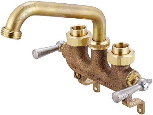 new arrival Central Brass 0470 lowest Two Handle Laundry Faucet outlet online sale in Rough Brass online sale