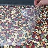 DecoHomeTextil Heimtextilmanufaktur Transparente Napfunterlage Futtermatte für Katze oder Hund Folie 2mm 50 x 100 cm Bodenschutz Unterlage Einlage Made in Germany