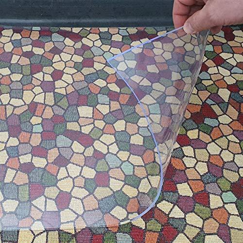 DecoHomeTextil Heimtextilmanufaktur Transparente Napfunterlage Futtermatte für Katze oder Hund Folie 2mm 90 x 60 cm Bodenschutz Unterlage Einlage Made in Germany