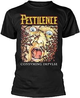 Pestilence 'Consuming Impulse Album Cover' (Black) T-Shirt