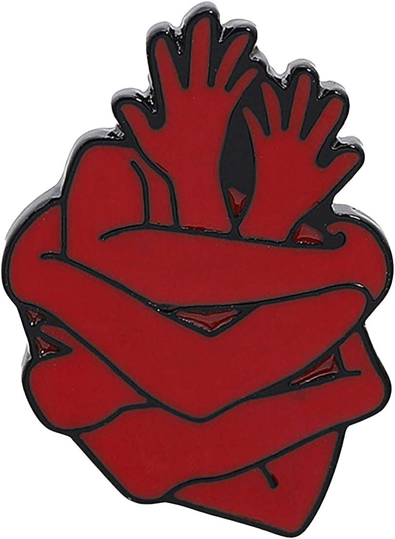 LiPing Heart Enamel Organ Product Pin Max 43% OFF Brave Brooches Bag Cloth Hug