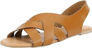comprar comparacion YWLINK Sandalias De Verano De Roma para Mujer Zapatillas De Playa De CáñAmo De Cuerda Plana para Estudiantes Sandalias De ...