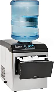 Barton 2in1 Water Dispenser Built-In Ice Cube Maker Machine Counter Top up to 40lbs, Stainless Steel