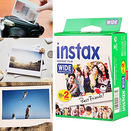 20 Sheets Mini Instant Film Photo Paper Instant Imaging for Fujifilm Instax Wide 300, 200, and 210, 4.25 x 3.39 Inch