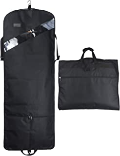 66'' Tri-fold Extra Long Dress Garment Bag, Premium & Breathable Tear-resistant Hanging Suit Cover for Travel and Storage