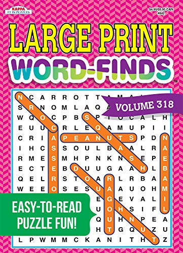 Compare Textbook Prices for Large Print Word-Finds Puzzle Book-Word Search Volume 318  ISBN 9781559931977 by Kappa Books Publishers