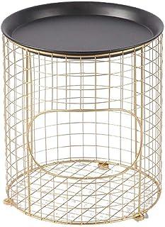 ZTMN Paniers à Linge Panier de Rangement en Fer forgé Table Basse en métal Chambre à Coucher Salle de Bains Maison Multi-F...