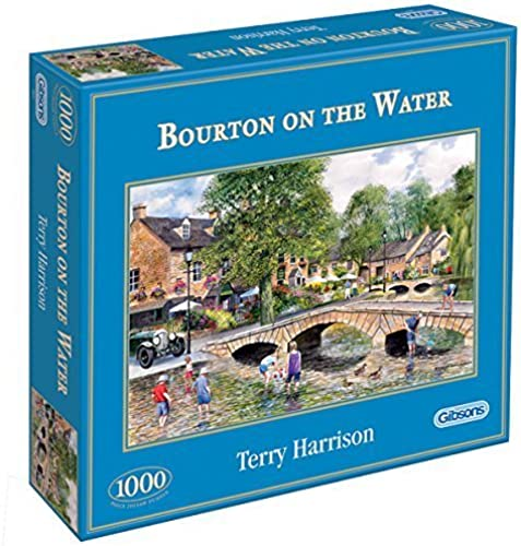 Gibsons - Bourton on the Water - Jigsaw Puzzle - 1000 Pieces by Terry Harrison (Holidays theme)