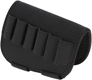 Dilwe Bolsa de Culata para Escopeta Táctica 6 Balas Funda Paquete de Balas Rifle Cantonera Canana Elastica para Rifle