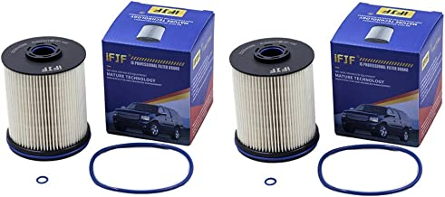 iFJF TP1015 Fuel Filter 5 Micron Filters with Seals for 2017 Chevy/GMC 6.6 Liter Duramax Diesel (Set of 2)