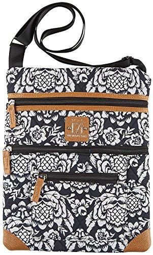 Stone Mountain Lockport Batik Quilted Handbag One Size Black/white