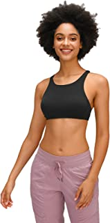 Women's Cross Back Yoga Sports Bras, Breathable Comfy Active Bras for Yoga Running Gym Exercise,Black,12