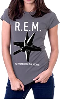 R.E.M. Automatic The People REM Band Logo Women's T-Shirt