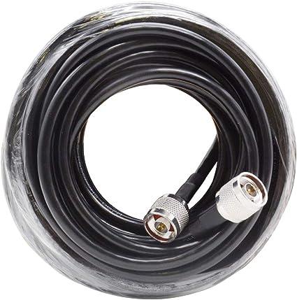 Diy Family Store 50 ohmios Cable coaxial de 10 Metros de 50-5 ...
