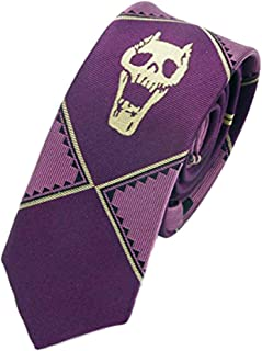 JoJo's Bizarre Adventure Kira Yoshikage Cosplay Slim Tie - Purple