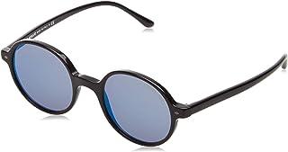 Emporio Armani - Armani 0AR8097 501704 49 Gafas de sol, Negro (Black/Greymirrorbluee), Hombre