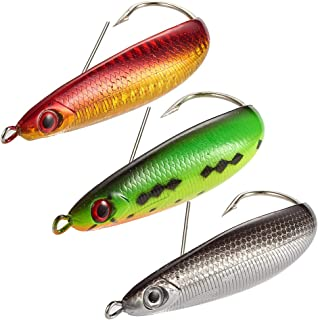 Dr.Fish Fishing Spoon Lure Kit Weedless Minnow Spoon Saltwater Freshwater Baits 3.6in 2/3 oz
