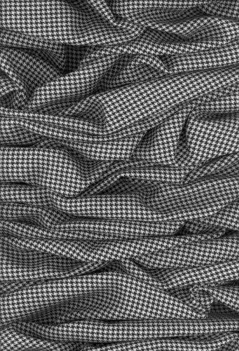 P140103-4 Vlies-Tapete Foto Pepita-Stoff geknüllt in S/W
