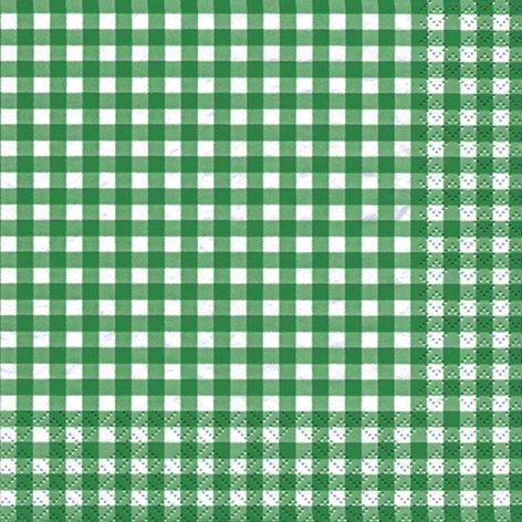 20 servilletas a cuadros verde/verde/cuadros/atemporal 33 x 33 cm