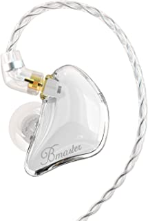 BASN Bmaster Triple Drivers in Ear Monitor Headphone with Two Detachable Cables Fit in Ear Suitable for Audio Engineer, Mu...