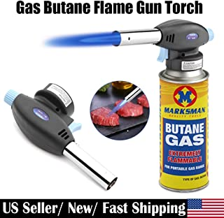 Best Design Use Torch Culinary Butane Gas Ignition Lighter Head With Adjustable Flame, Camping Torch Butane - Mac Tools Butane Torch, Butane Torch Lighter, Creme Brulee Torch Refills