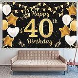 KAINSY 40 Geburtstag Dekoration, 40. Geburtstag Party Dekor