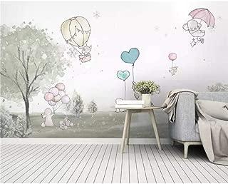 XIXISA Mural Cute Cartoon Balloon Bear cub Animal Child Room Background Wall Wallpaper Landscape Home Decor Wallpaper 300x200cm
