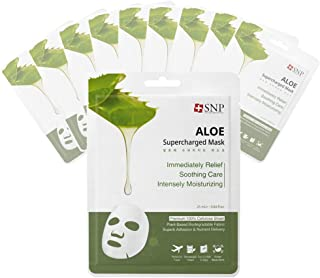 SNP - Aloe Supercharged Soothing Korean Face Sheet Mask - 10 Sheet Pack