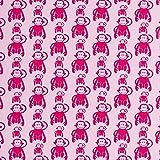 Swafing Jersey Vicente Retro Affen in rosa Öko-Tex