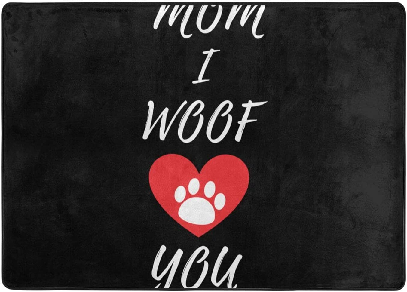 Raleigh Mall wobzfrok Mom Max 90% OFF I Woof You Novelty Office Doormat Home Decorati and