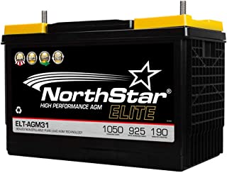 NorthStar ELT-AGM31 AGM Pure Lead 925CCA 1050CA Group 31 Battery