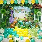Dinosaurier-Themenballon mit grünem Hintergrund Alles Gute