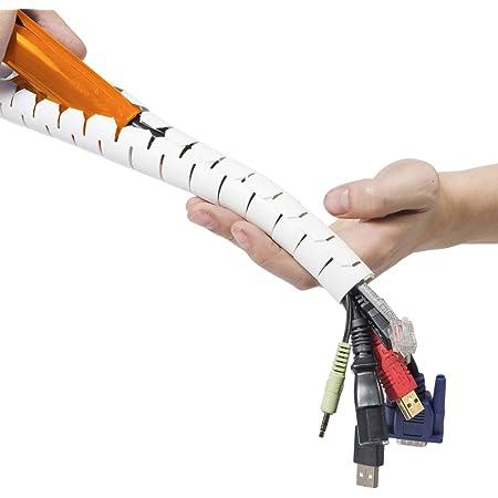 Bambelaa Kabelschlauch 1 5m 3 0m Kabelkanal Kürzbar Kunststoff Flexible Kabelorganisation 20mm 30mm Durchmesser Weiß 3 0m X 30mm Bürobedarf Schreibwaren