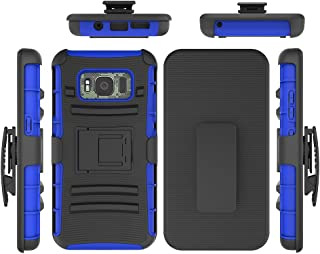 Galaxy S8 Active Case, FOLICE Combo Holster Kickstand Belt Clip [Kickstand][Belt Swivel Clip] for Samsung Galaxy S8 Active (SM-G892) (2017 Release) (Blue)
