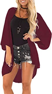 Cardigan for Women Solid Colors Long Sleeve Open Front Cover Ups