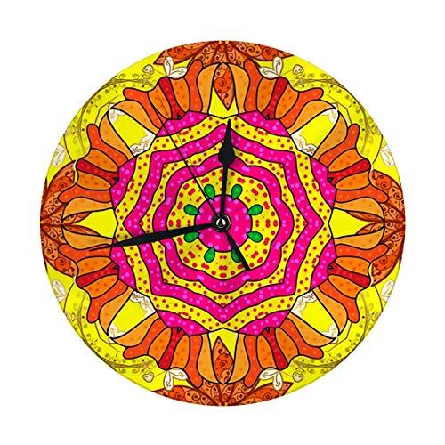 Night Ing Runde Wanduhr Mode Banner Label Brautdusche oder Hochzeitseinladung Gelb Orange und Magenta zurück