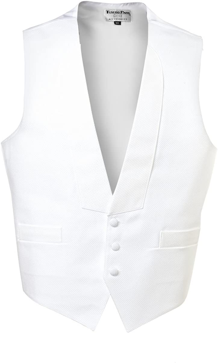 Pique 3 Button Fullback Vest with Pre-tied Bow