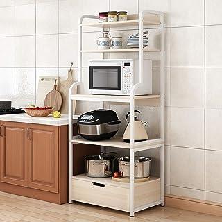 Rangement Cuisine Organisateur étagère Utility Storage Shelf 5 Niveau étagère avec tiroirs de cuisine Baker Rack for Four ...