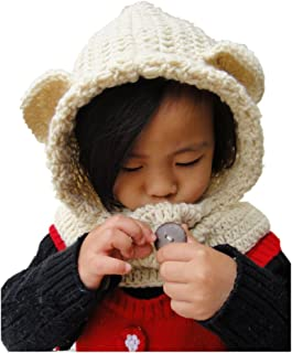 Baby Crochet Animal Hats Hooded Scarf Homemade Chirstmas Gifts