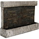 Sunnydaze Ancient Wall Fountain - Modern Indoor or Outdoor Wall Mount Waterfall - Garden & Backyard...