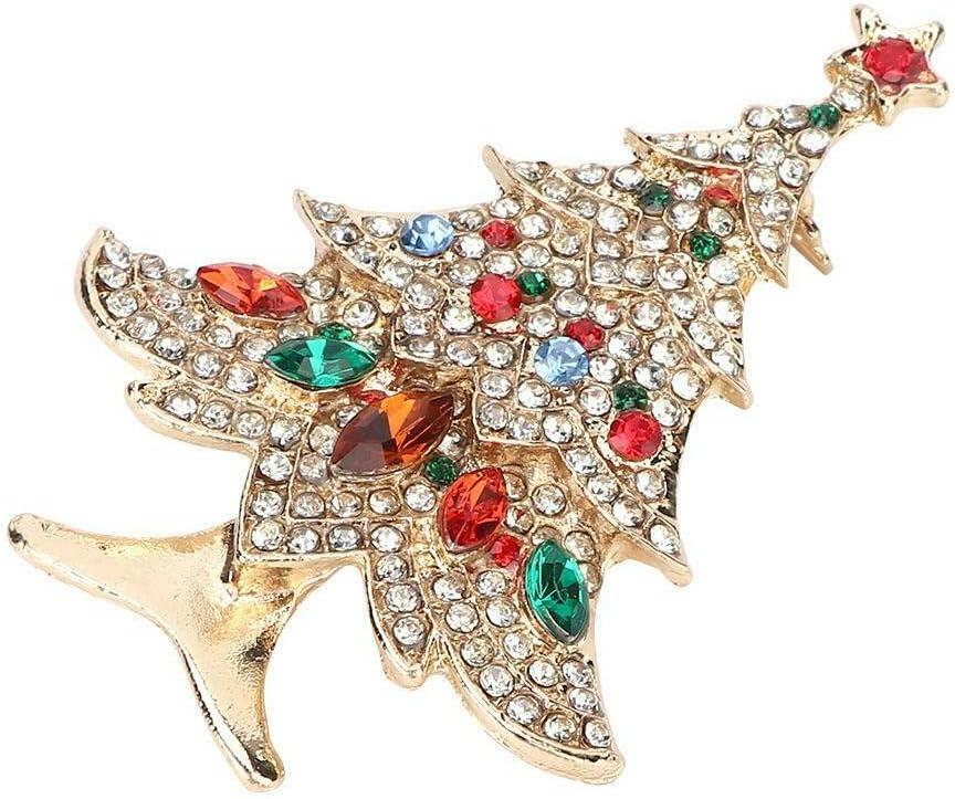 Fashion Christmas Save Max 73% OFF money Tree Rhinestone Brooch Women's Xma Jewelry Pin