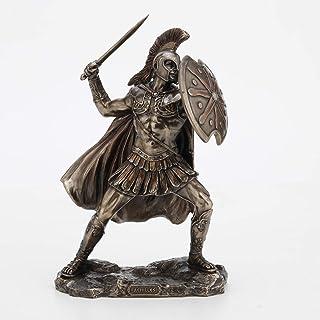 Veronese Design 9 5/8 Inch Greek Hero Achilles Battle Stance Cold Cast Resin Antique Bronze Finish Statue Home Decor