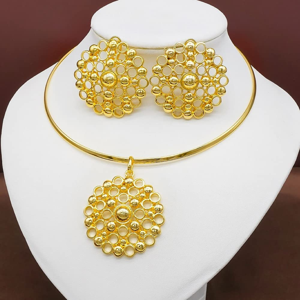 QXZ-WOLFBERRY Fashion Trendy Earrings Necklaces Bridal Jewelry Sets Gift Dress Wedding Accessories Jewellery Necklace Pendant Earring (Metal Color : NP58-1)